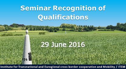 Seminar recognition of qualifications – 29 June 2016
