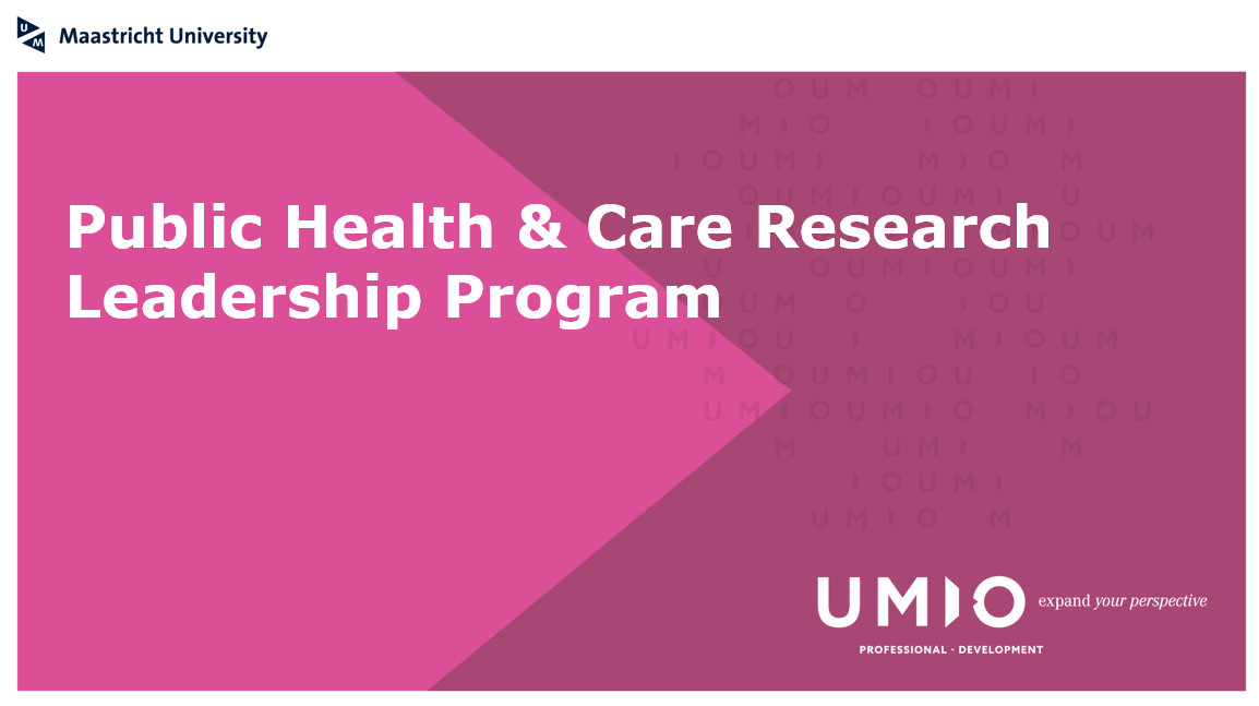 Become a leader in the field of public health and care research!